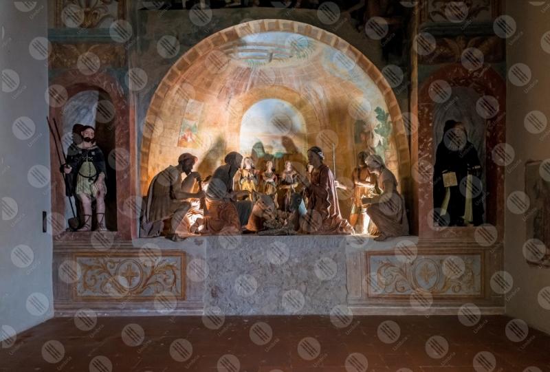 Presepe Monumentale Oratorio di Sant'Antonio statue terracotta colori arte centro storico storia  Calvi dell'Umbria