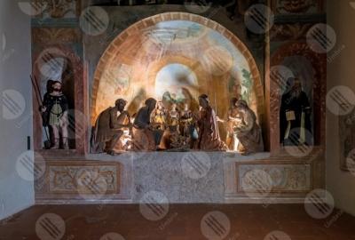 calvi-dell-umbria Presepe Monumentale Oratorio di Sant'Antonio statue terracotta colori arte centro storico storia