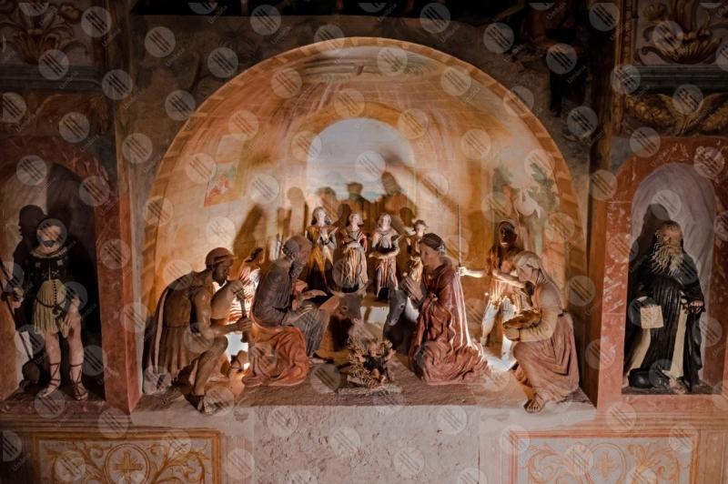 Presepe Monumentale Oratorio di Sant'Antonio statue terracotta dettagli particolari colori arte storia  Calvi dell'Umbria