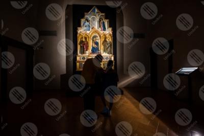 perugia Polittico di Sant'Antonio Piero della Francesca Galleria Naziona dell'Umbria dipinto colori arte anziano bambino