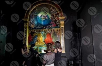 narni Incoronazione della Vergine Museo Eroli dipinto colori arte persone
