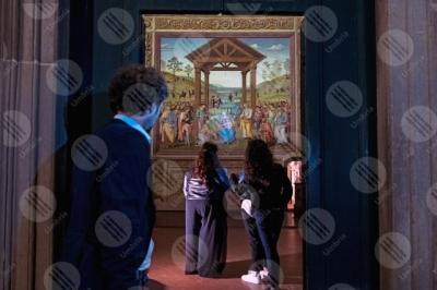 citta-della-pieve Adorazione dei magi Oratorio di Santa Maria dei Bianchi affresco colori arte persone