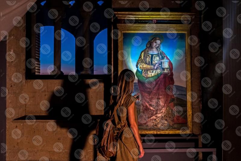 Santa Maria Maddalena del Signorelli Museo dell'Opera del Duomo dipinto colori arte donna ragazza  Orvieto