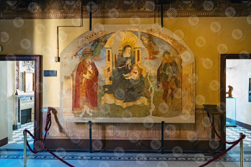 Museo Dinamico del Laterizio e delle Terrecotte dipinto colori arte Madonna Bambino  Marsciano