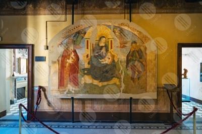 marsciano Museo Dinamico del Laterizio e delle Terrecotte dipinto colori arte Madonna Bambino