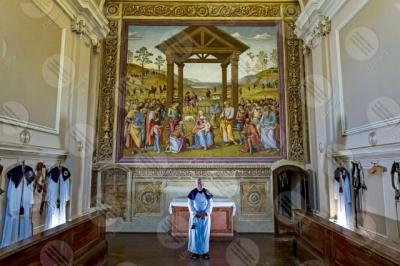 citta-della-pieve Oratorio di Santa Maria dei Bianchi Adorazione dei Magi Città della Pieve Perugino fresco art
