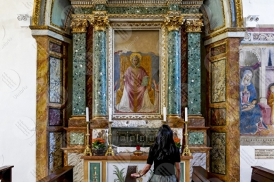 montefalco Convento di San Fortunato Benozzo Gozzoli altar paintings art woman girl