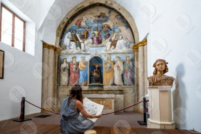 perugia Chapel of San Severo Church of San Severo Raffaello Perugino fresco art woman