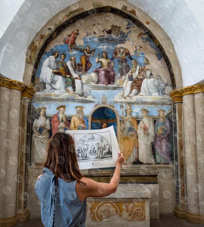 Cappella di San Severo Chiesa di San Severo Raffaello Perugino affresco arte donna  Perugia