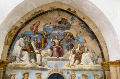 perugia Chapel of San Severo Church of San Severo Raffaello Perugino fresco art details particulars