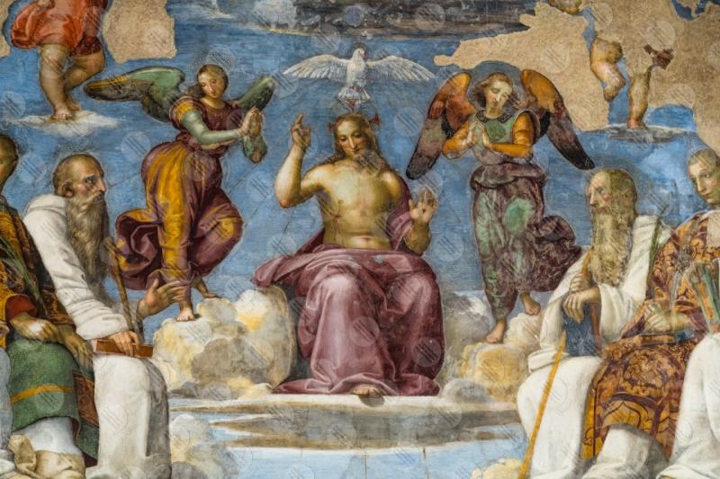 Cappella di San Severo Chiesa di San Severo Raffaello Perugino affresco arte dettagli particolari  Perugia