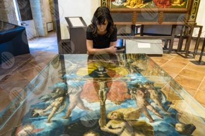 todi museum picture gallery Giovanni di Pietro lo Spagna disciple Perugino frescoes woman art