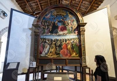 todi museum picture gallery Giovanni di Pietro lo Spagna disciple Perugino fresco woman art