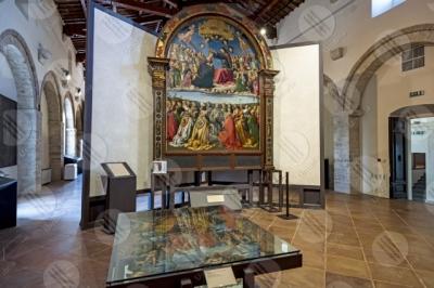 todi museum picture gallery Giovanni di Pietro lo Spagna disciple Perugino frescoes art