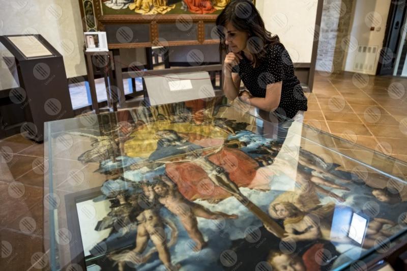 museo pinacoteca Giovanni di Pietro lo Spagna discepolo Perugino affreschi arte donna  Todi