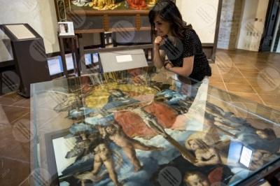 todi museum picture gallery Giovanni di Pietro lo Spagna disciple Perugino frescoes art woman
