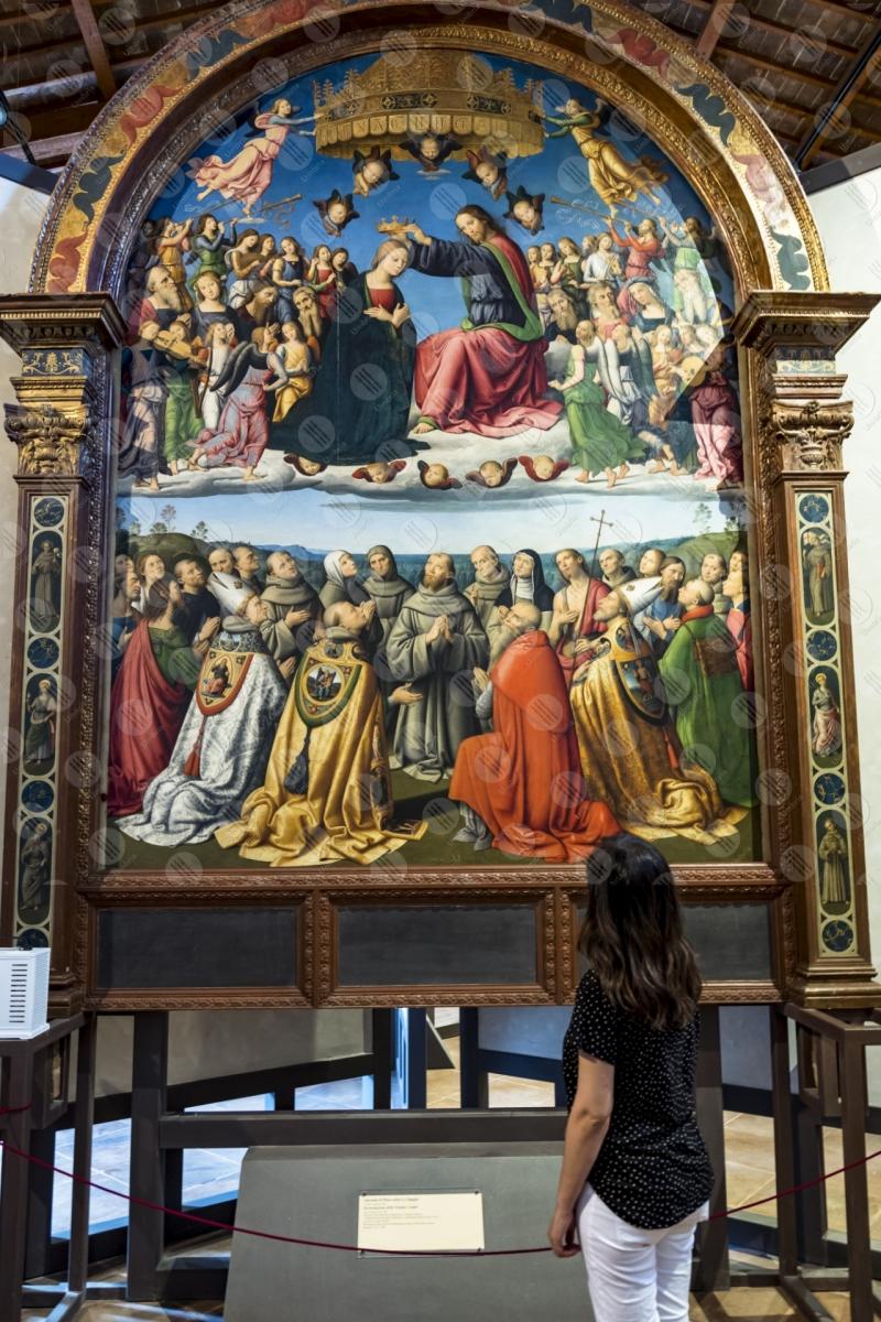 museo pinacoteca Giovanni di Pietro lo Spagna discepolo Perugino affresco arte donna  Todi