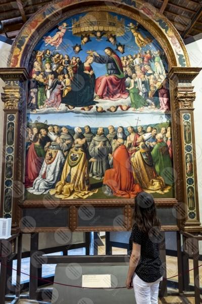 todi museum picture gallery Giovanni di Pietro lo Spagna disciple Perugino fresco art woman