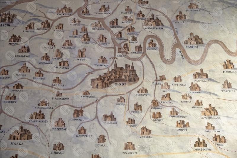 museo pinacoteca cartina mappa  Todi