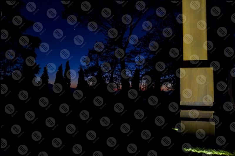 Beverly Pepper The Todi coloums arte colonna alberi  Todi