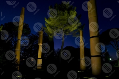 todi Beverly Pepper The Todi coloums art columns trees