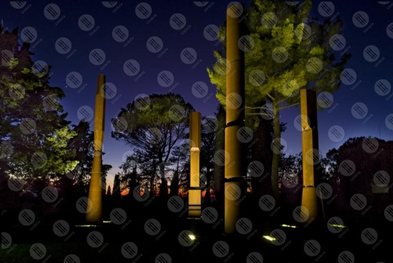 Beverly Pepper The Todi coloums arte colonne alberi  Todi
