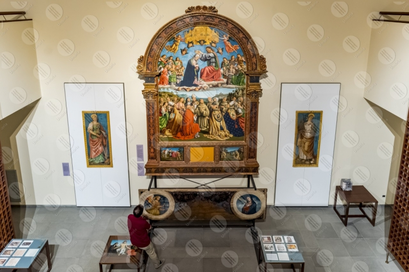 Museo di San Francesco pinacoteca Incoronazione della Vergine Giovanni di Pietro lo Spagna affreschi arte uomo  Trevi