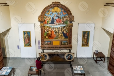 trevi San Francesco Museum picture gallery Coronation of the Virgin Giovanni di Pietro lo Spagna frescoes art man
