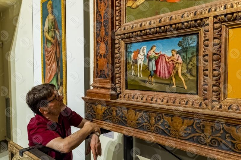 Museo San Francesco pinacoteca Incoronazione della Vergine Giovanni di Pietro lo Spagna affreschi arte uomo  Trevi