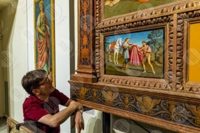trevi Museo San Francesco pinacoteca Incoronazione della Vergine Giovanni di Pietro lo Spagna affreschi arte uomo