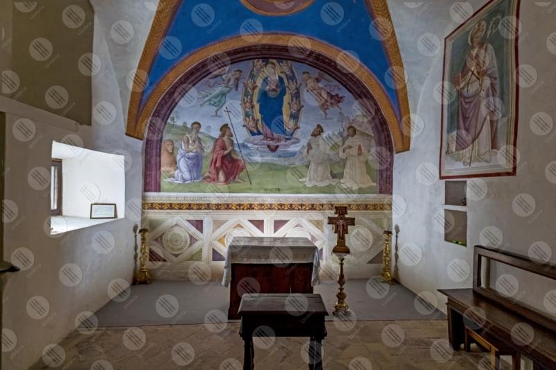 Convento San Martino Cappella di Cesare e Minerva Giovanni Di Pietro lo Spagna affresco arte altare  Trevi