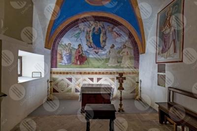 trevi Convento San Martino Cappella di Cesare e Minerva Giovanni Di Pietro lo Spagna affresco arte altare